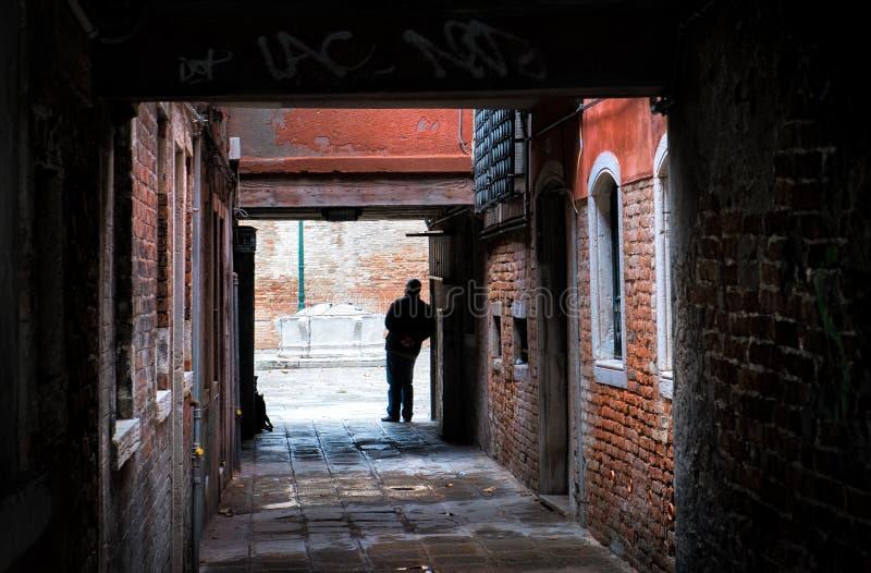 Le passage vers Venise l'Italie images libres de droits