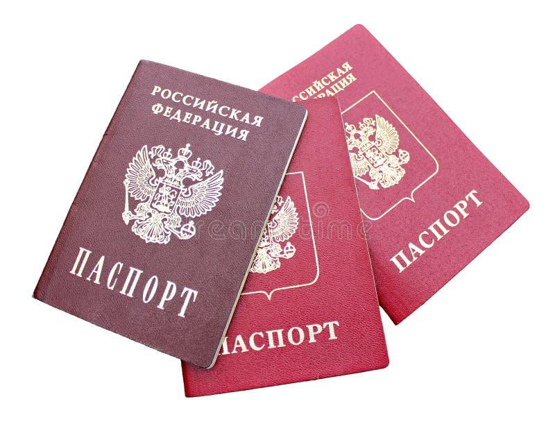 Le passeport d'un citoyen de la Fédération de Russie d'isolement image libre de droits