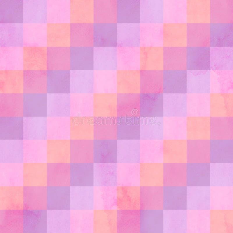 Le patchwork abstrait barre le modèle sans couture Rouge et combinaison de couleurs rose photos stock