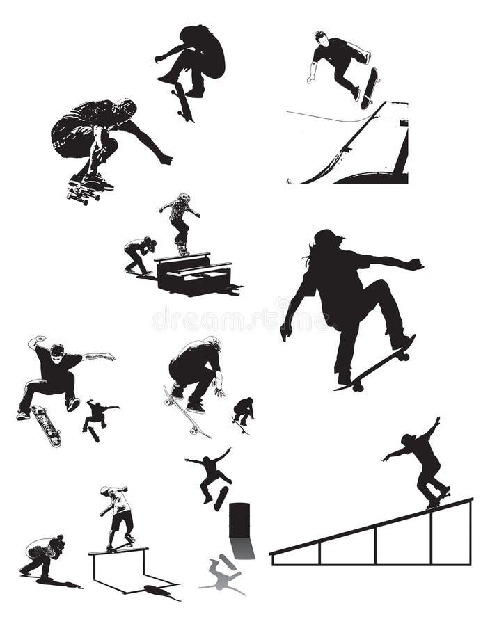 Le patin silhouette X photo stock