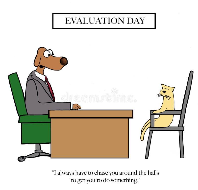Le patron de chien doit chasser le chat illustration libre de droits