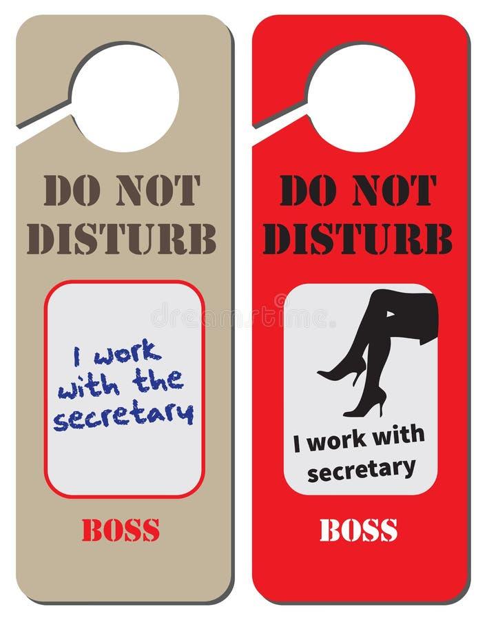 Le patron fonctionne avec le secrétaire illustration de vecteur