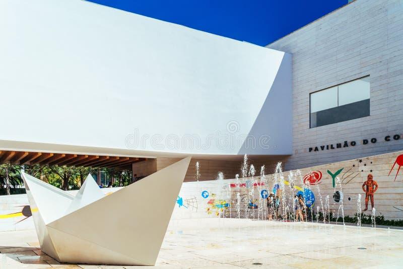 Le pavillon de la connaissance Pavilhao font Conhecimentois ou Ciencia Viva In Lisbon photo stock