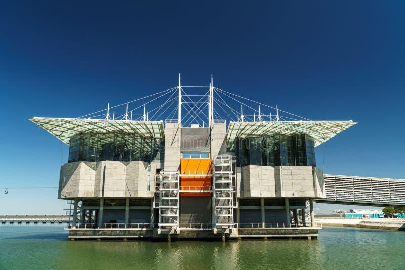 Le pavillon de la connaissance Pavilhao font Conhecimentois ou Ciencia Viva In Lisbon photos libres de droits