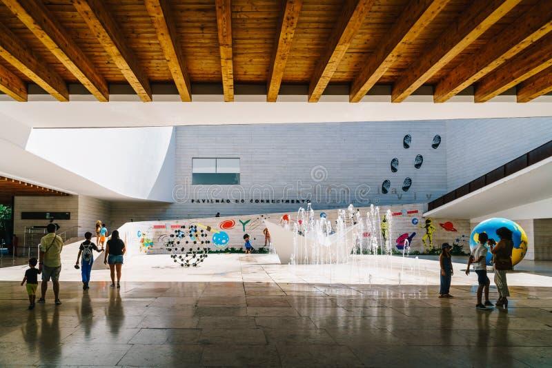 Le pavillon de la connaissance Pavilhao font Conhecimentois ou Ciencia Viva In Lisbon images libres de droits