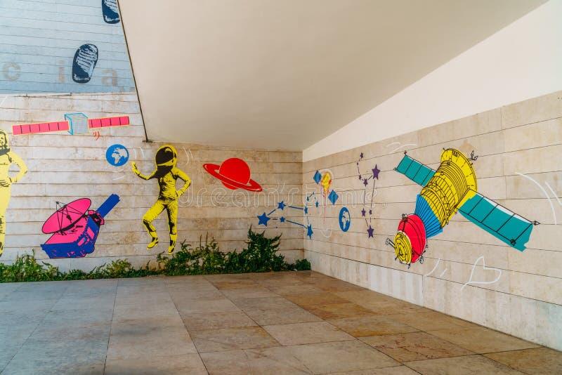 Le pavillon de la connaissance Pavilhao font Conhecimentois ou Ciencia Viva In Lisbon image stock