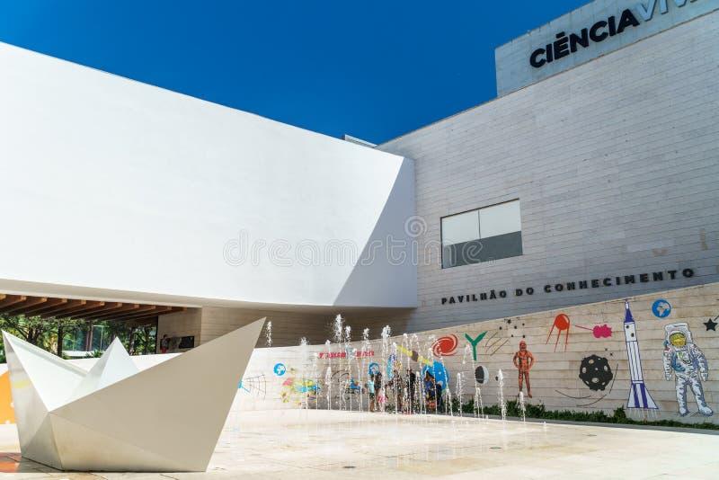 Le pavillon de la connaissance Pavilhao font Conhecimentois ou Ciencia Viva In Lisbon photographie stock libre de droits