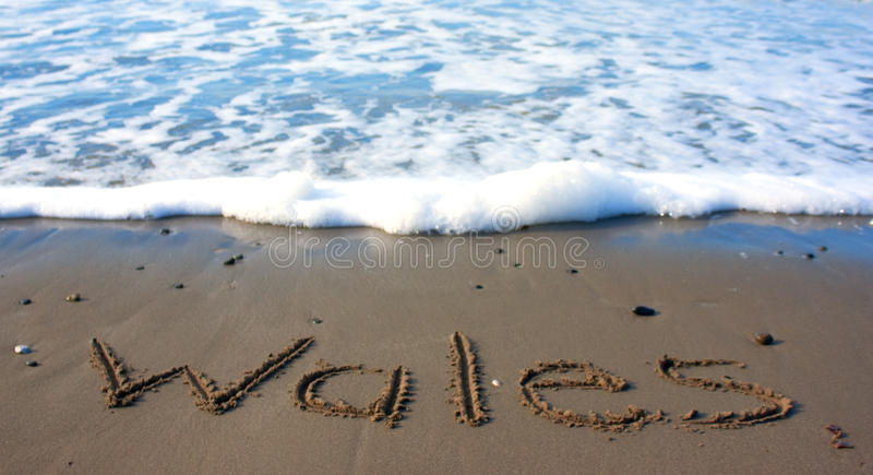 Le Pays de Galles sur la plage images libres de droits
