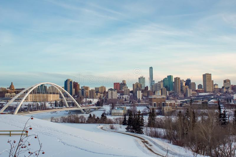 Le pays des merveilles d'hiver à Edmonton images libres de droits