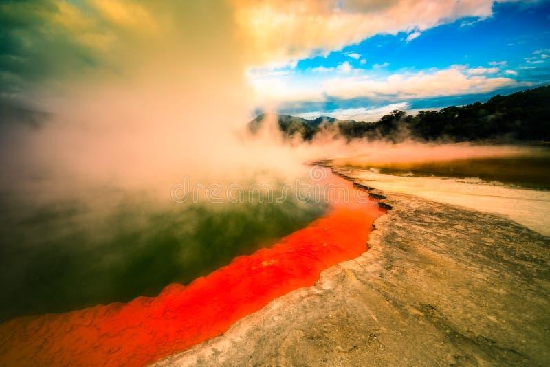 Le pays des merveilles de la Nouvelle Zélande photographie stock libre de droits