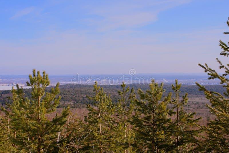 Le paysage à partir du dessus photographie stock