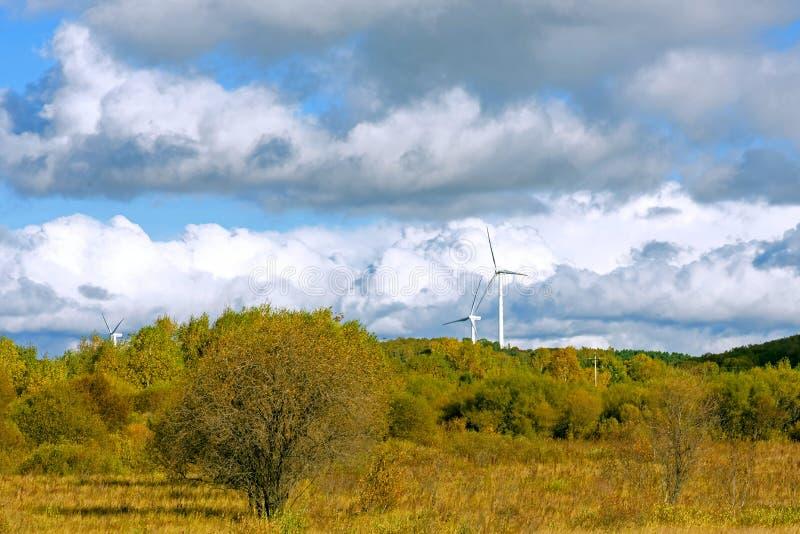 Le paysage d'automne de prairie images stock