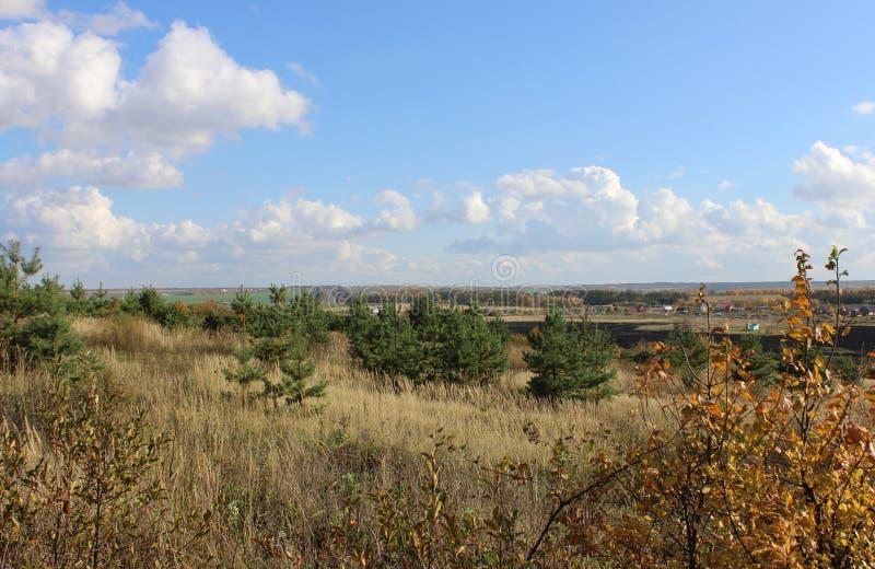 Le paysage d'automne a donné image stock