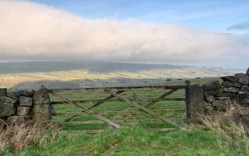 Le paysage dans North Yorkshire amarre photo libre de droits