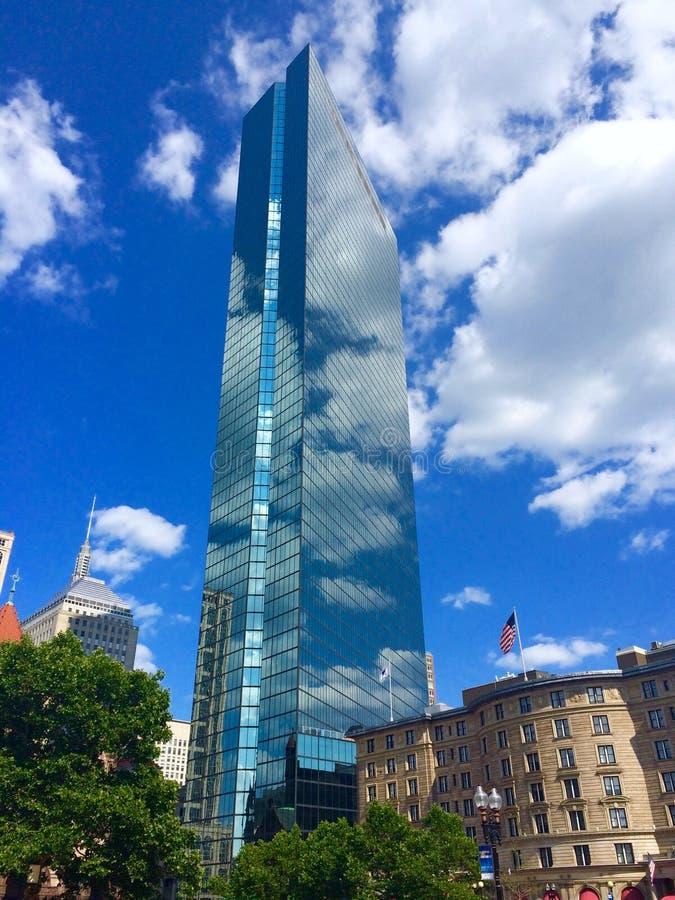 Le paysage de Boston, John Hancock Tower images stock