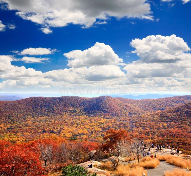 Le paysage de feuillage à partir du dessus de la montagne d'ours photos stock