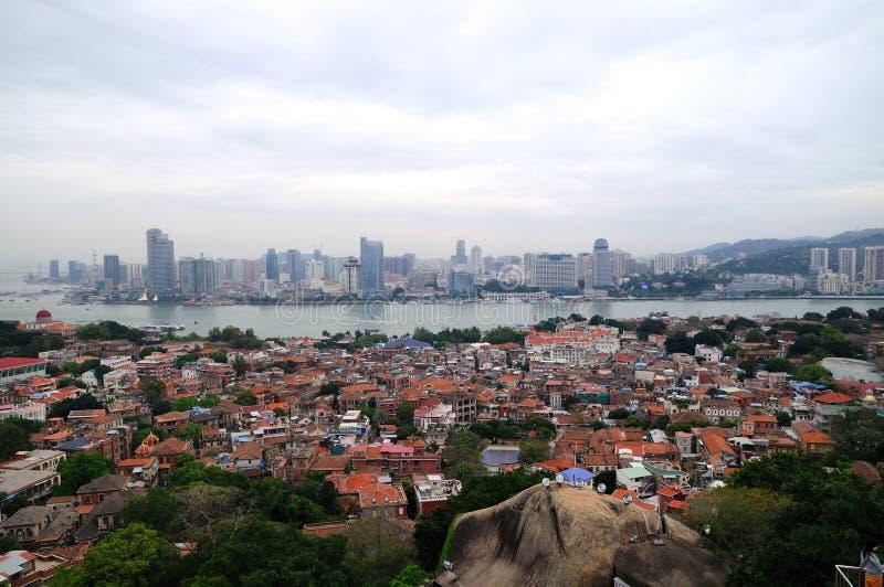 Le paysage de l'île de Gulangyu et de Xiamen photographie stock