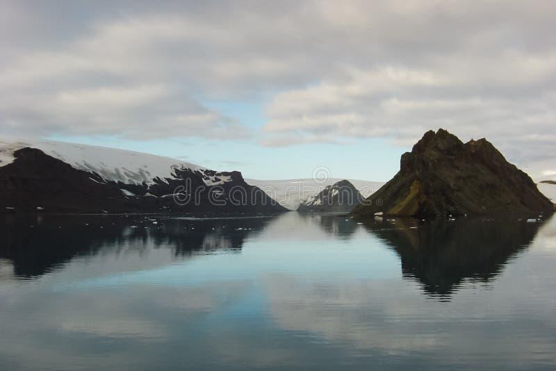 Le paysage de la côte de l'Antarctique photo stock