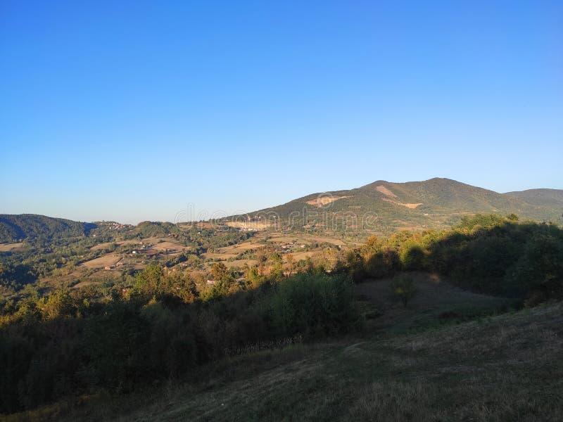 Le paysage de la montagne Rudnik en Serbie en automne photos stock