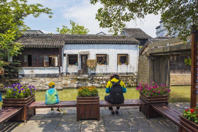Le paysage de la ville antique de nanxun province dans Huzhou, Zhejiang photo libre de droits