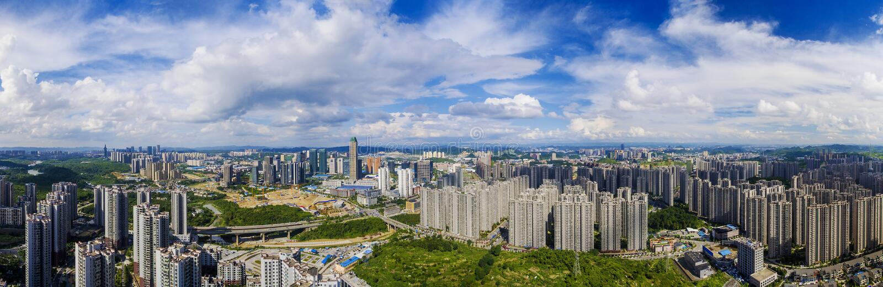 Le paysage de la ville de Guiyang photos stock