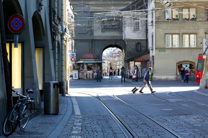 Le paysage de la ville magnifique de Berne photographie stock libre de droits
