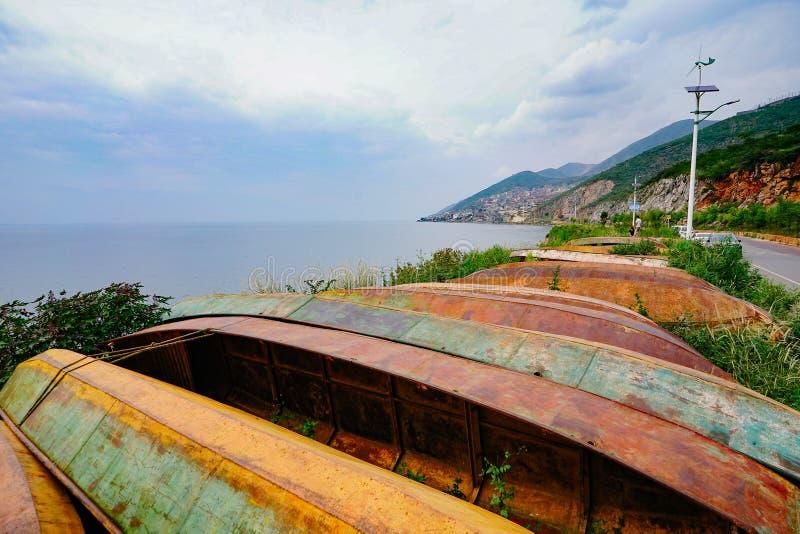 Le paysage de lac d'erhai images libres de droits