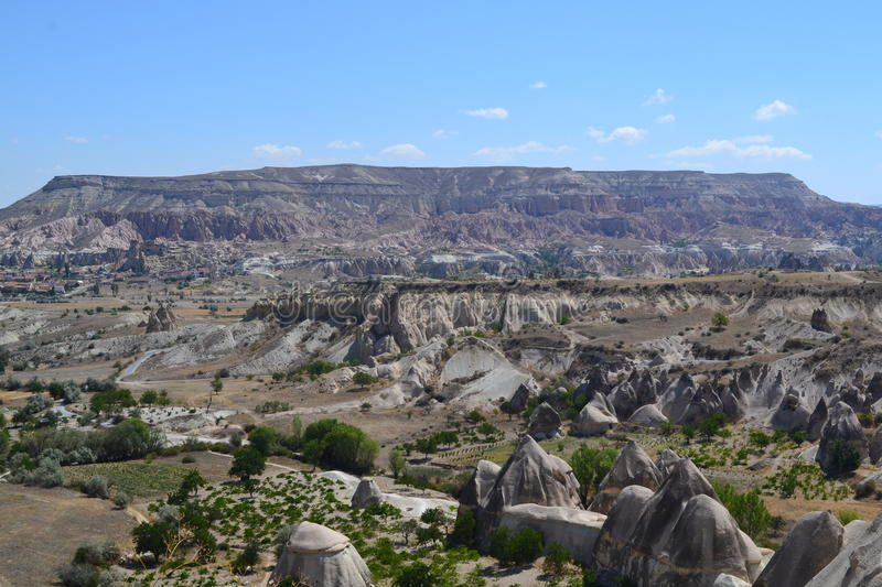 Le paysage de nature de la région de Cappadocia photo stock
