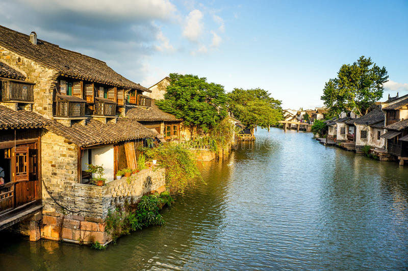 Le paysage de Wuzhen image stock