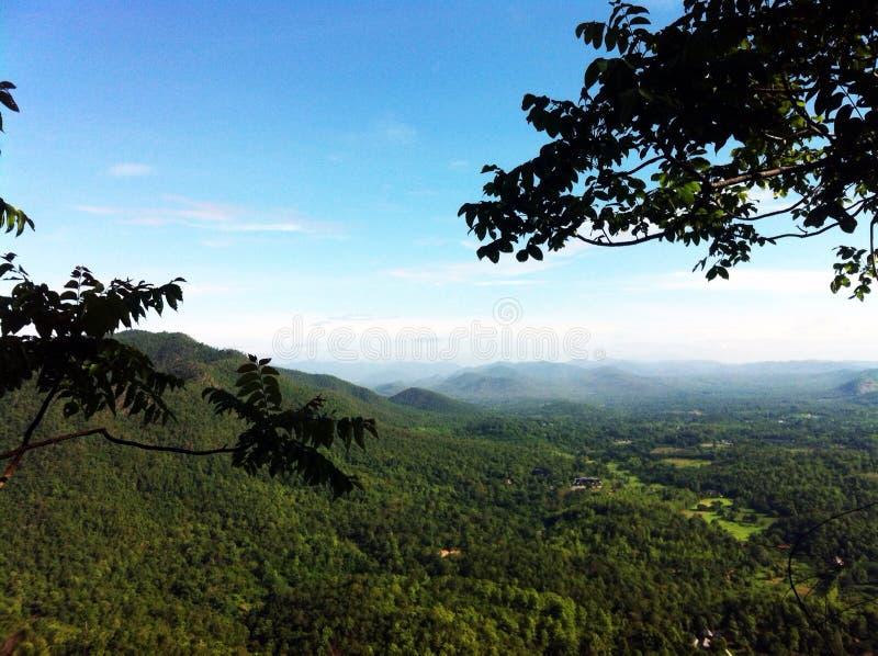 Le paysage des montagnes dans Chiangmai Thaïlande images libres de droits
