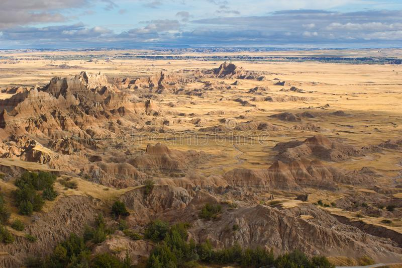 Le paysage du parc national de bad-lands dans le Dakota du Sud photographie stock