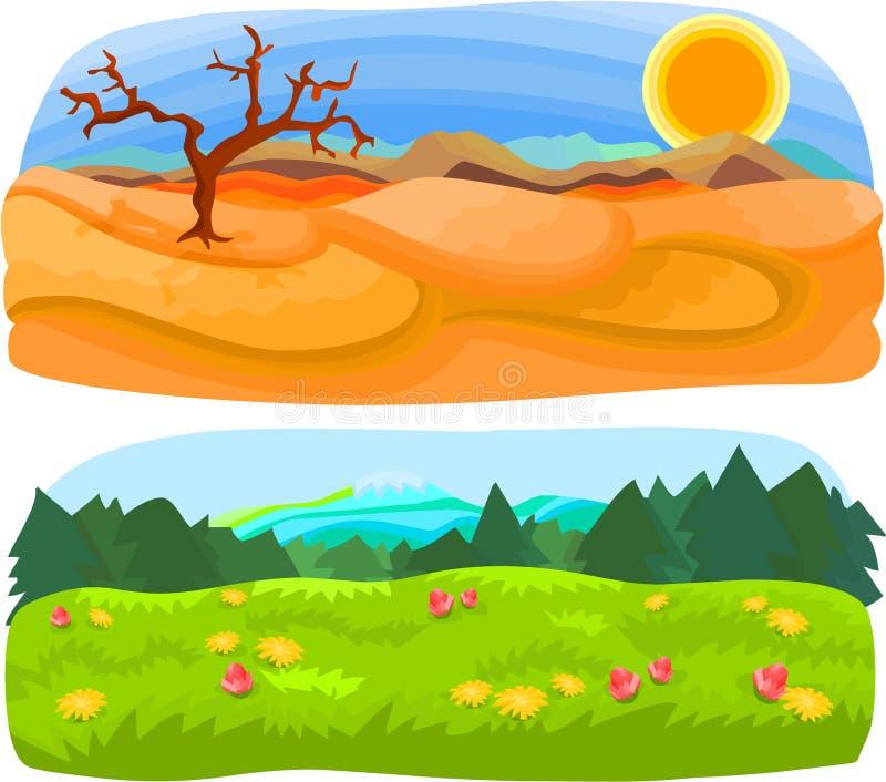Le paysage a placé 02 illustration de vecteur
