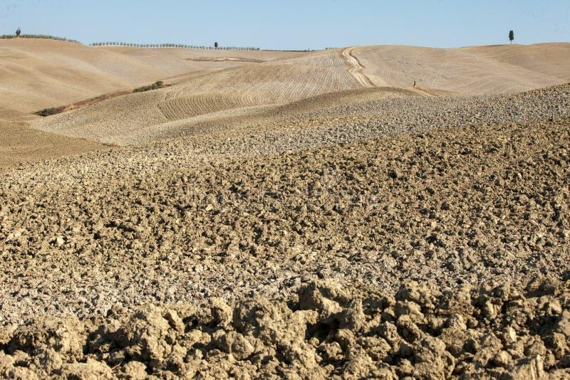 Le paysage rural de la Toscane photo stock