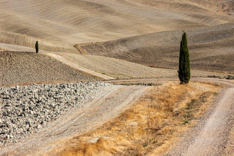 Le paysage rural de la Toscane photographie stock libre de droits