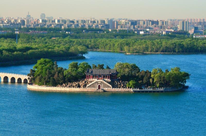 Le paysage urbain de Pékin de ¼ de lakeï de palais d'été image libre de droits
