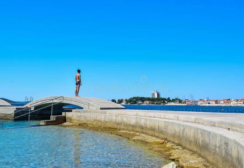 Le paysage urbain de Vodice photo libre de droits