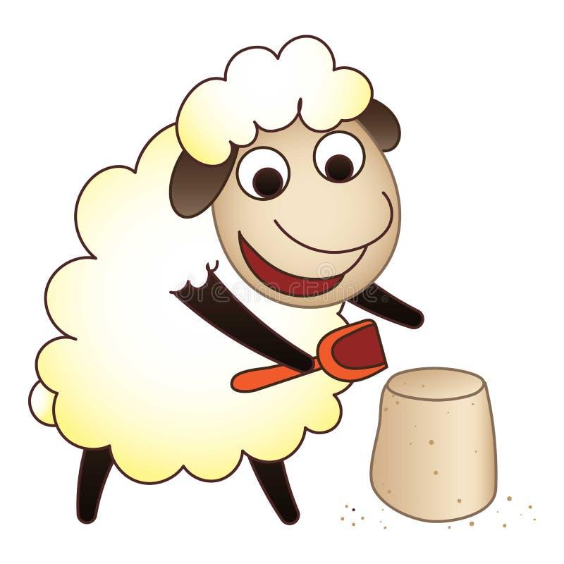 Le pecore giocano l'icona, stile del fumetto royalty illustrazione gratis