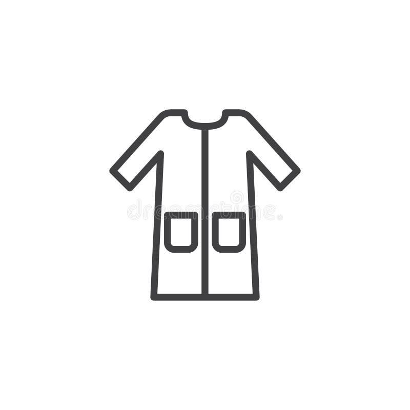 Le peignoir avec des poches rayent l'icône illustration libre de droits