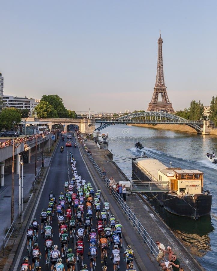 Le Peloton à Paris photos libres de droits