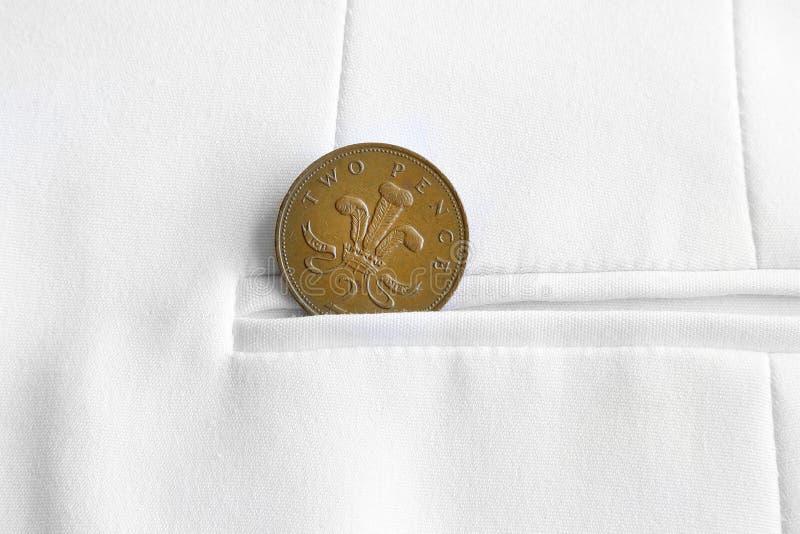 Le penny enregistré est penny gagné photographie stock libre de droits