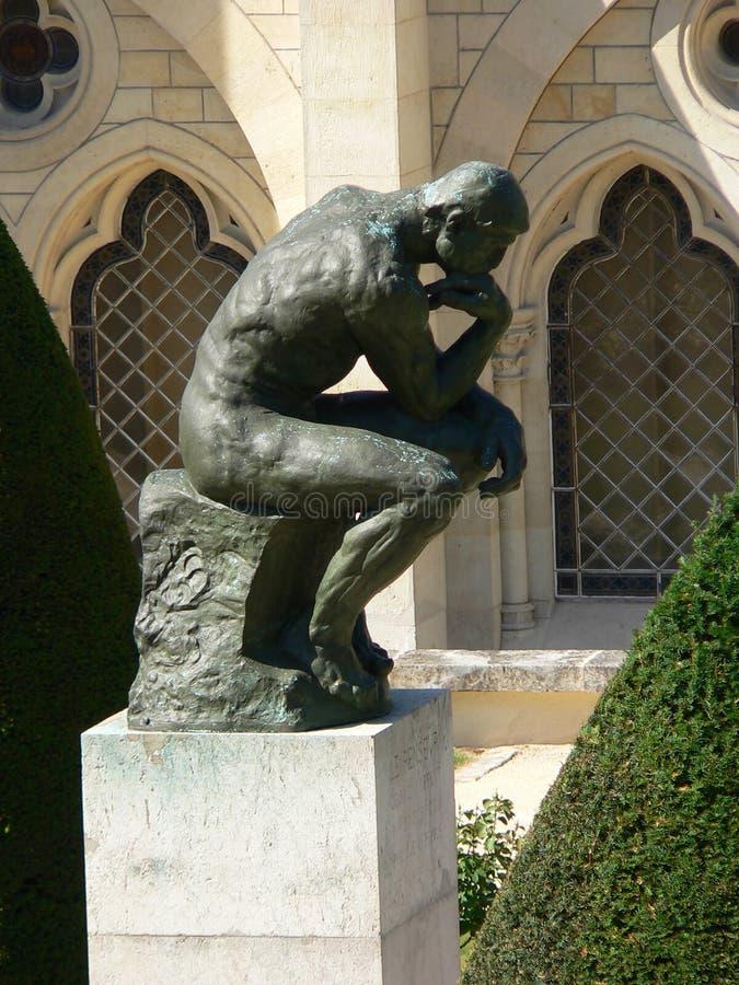 le penseur,巴黎 库存照片