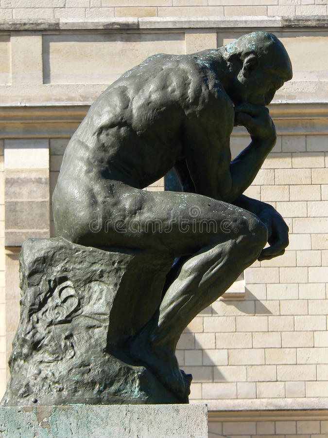 Le penseur, Paris imagem de stock