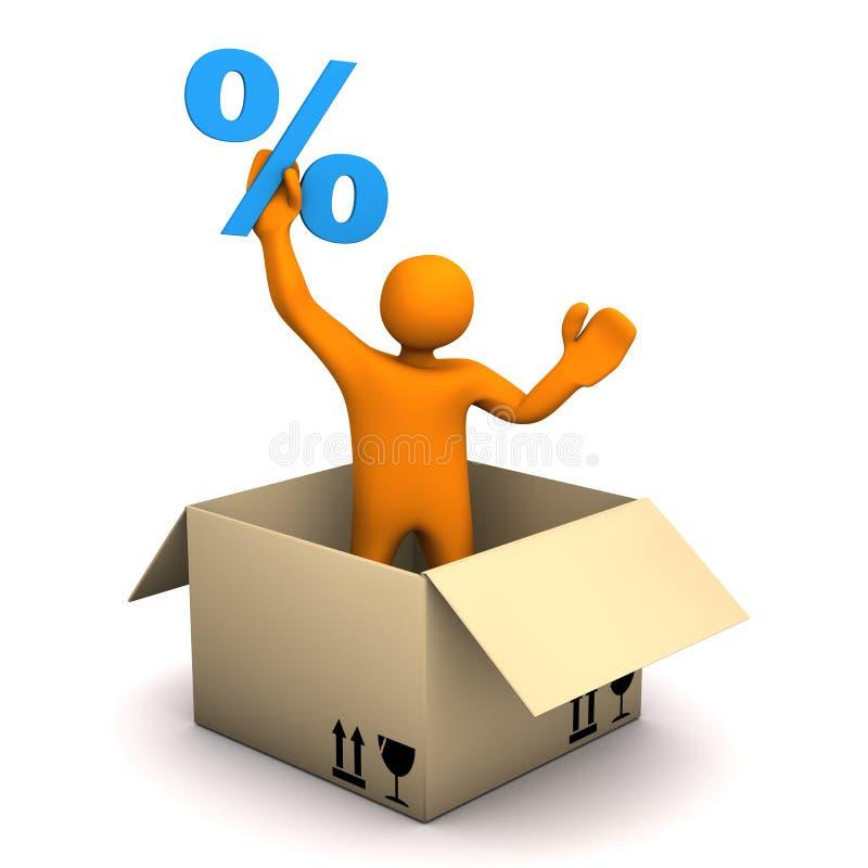 Le percentuali del pacchetto del manichino illustrazione vettoriale