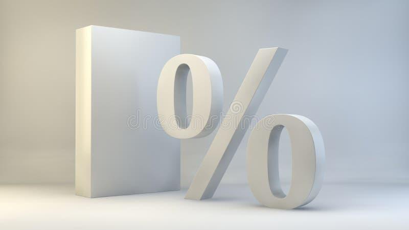 Le percentuali di concetto. illustrazione 3D royalty illustrazione gratis