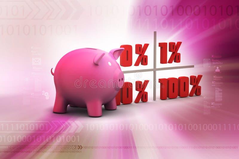 Le percentuali di finanza di concetto royalty illustrazione gratis