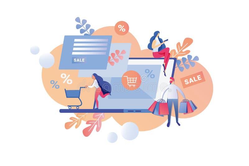 Le percentuali di vendita dell'iscrizione dell'illustrazione di vettore illustrazione vettoriale