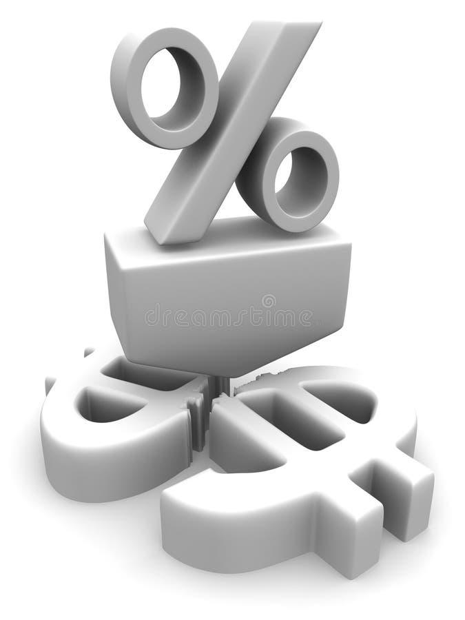Le percentuali sul dollaro royalty illustrazione gratis