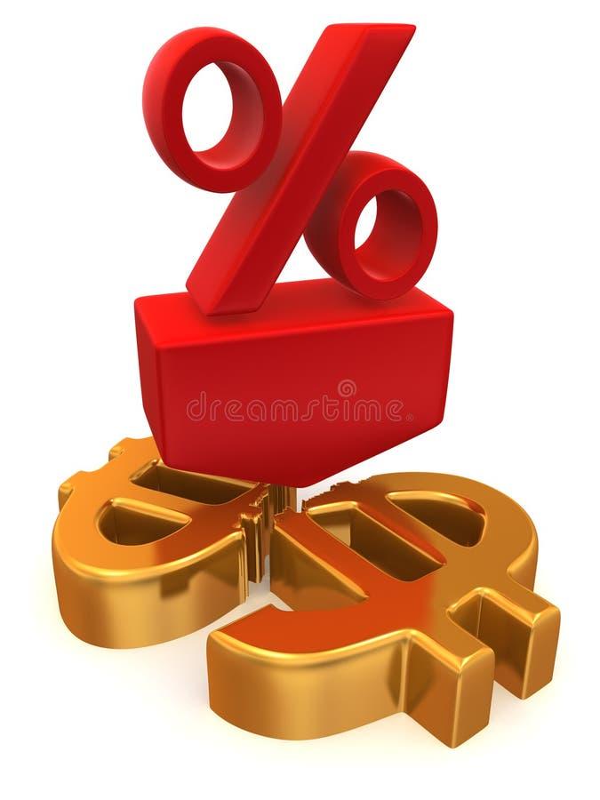 Le percentuali sul dollaro illustrazione di stock