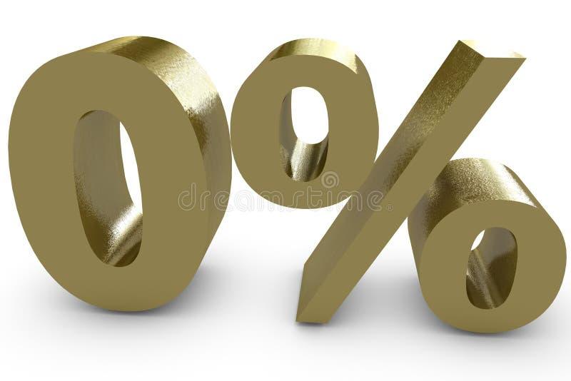Le percentuali zero illustrazione vettoriale