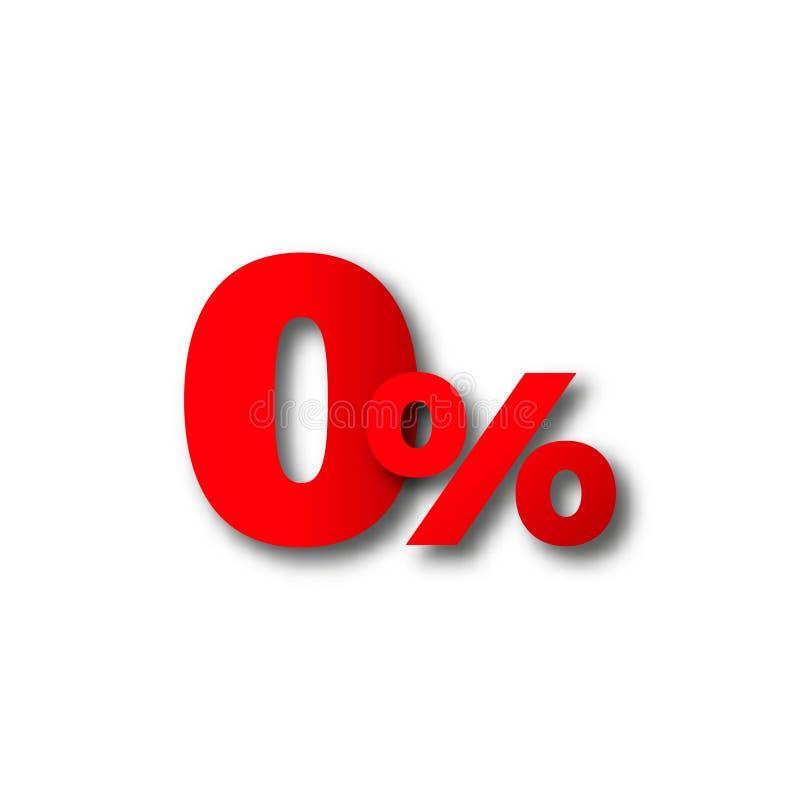 le 0 percentuali zero di vettore del nero di testo di venerdì royalty illustrazione gratis
